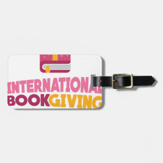 International Book Giving Day - 14th February Luggage Tag