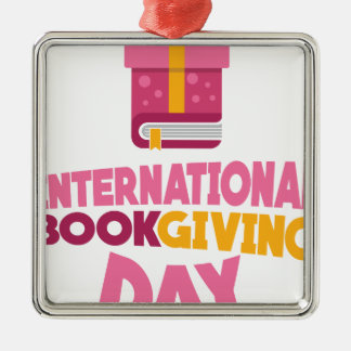 International Book Giving Day - 14th February Metal Ornament