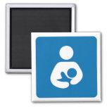 international breastfeeding symbol square magnet