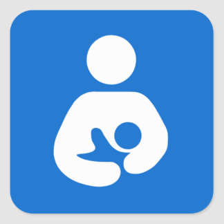 International Breastfeeding Symbol Square Sticker