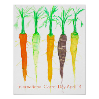 International Carrot Day April 4 Poster