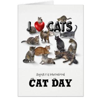 International Cat Day Card