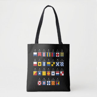 International Code of Signals Alphabet Tote Bag