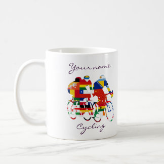 International cyclists coffee mug