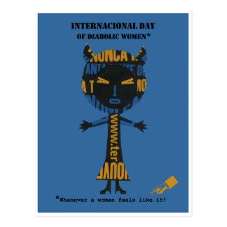 International day of diabolic women postcard