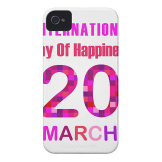 International Day of Happiness- Commemorative Day iPhone 4 Case-Mate Cases