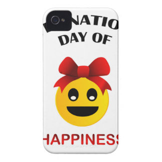 International Day of Happiness- Commemorative Day iPhone 4 Cases