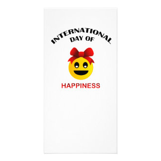 International Day of Happiness Custom Photo Card