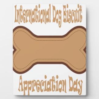International Dog Biscuit Appreciation Day Plaque