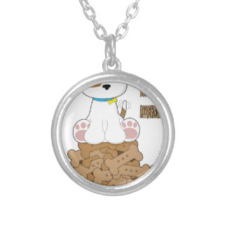 International Dog Biscuit Appreciation Day Silver Plated Necklace