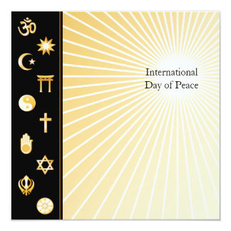 "International Faiths 5.25"" Square Invitation Card"