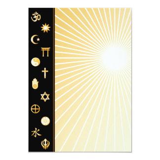 """International Faiths 5"""" X 7"""" Invitation Card"""