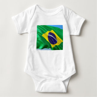 International Flag Brazil Baby Bodysuit