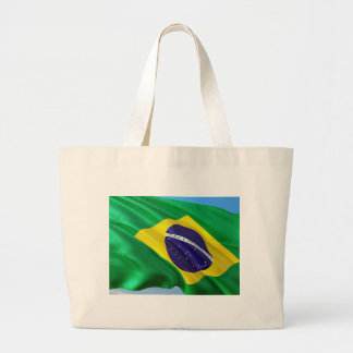 International Flag Brazil Large Tote Bag