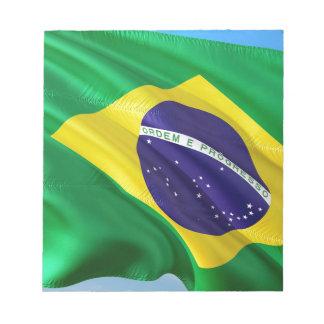 International Flag Brazil Notepad