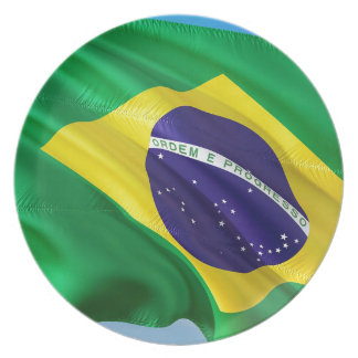 International Flag Brazil Plate