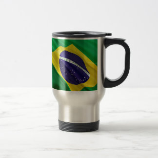 International Flag Brazil Travel Mug