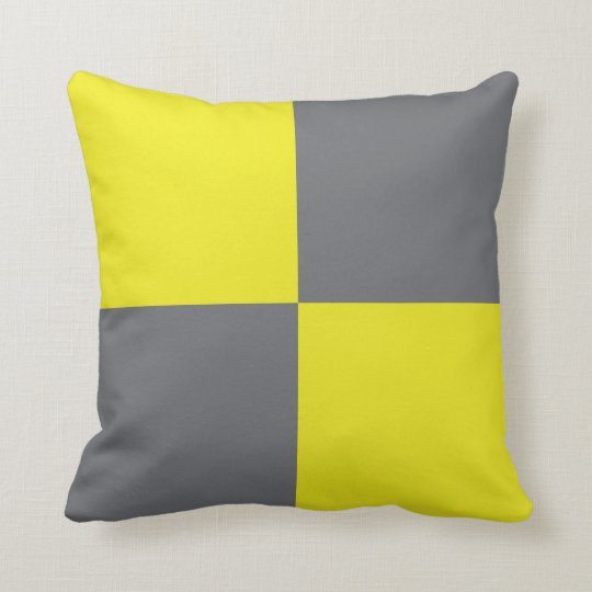 International Flag Code pillow- Letter L (Lima) Throw Pillow