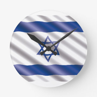 International Flag Israel Round Clock