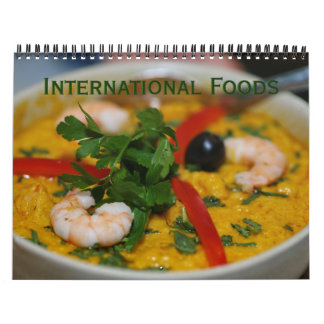 International Foods Wall Calendar