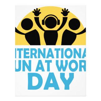 International Fun At Work Day - Appreciation Day Letterhead