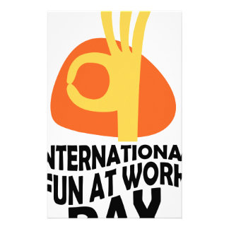 International Fun At Work Day - Appreciation Day Stationery