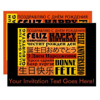 International Happy Birthday Design Card
