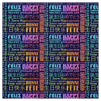 International Happy Birthday Design Fabric