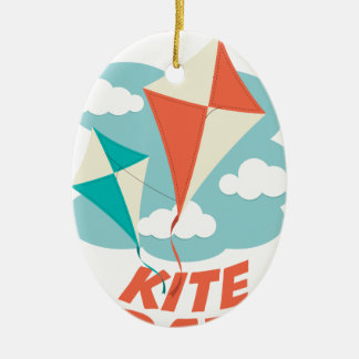 International Kite Day - Appreciation Day Ceramic Ornament