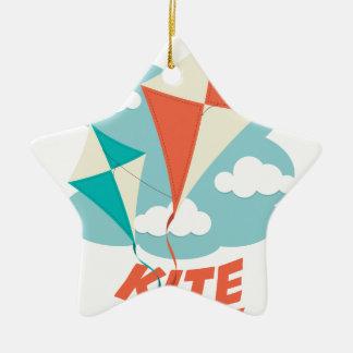International Kite Day - Appreciation Day Ceramic Ornament