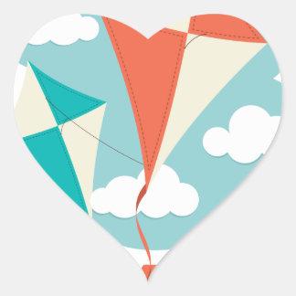 International Kite Day - Appreciation Day Heart Sticker