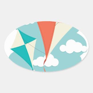 International Kite Day - Appreciation Day Oval Sticker