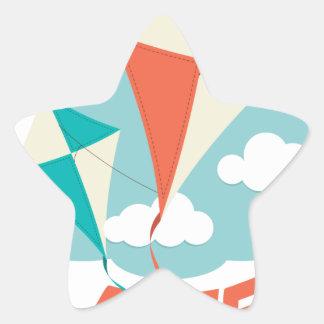 International Kite Day - Appreciation Day Star Sticker