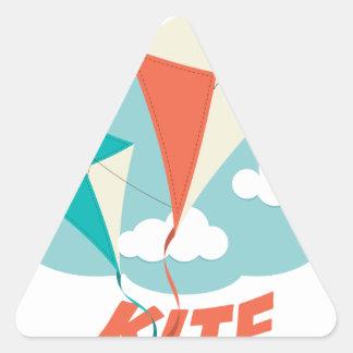International Kite Day - Appreciation Day Triangle Sticker