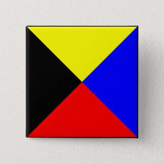 International maritime signal flag letter nautical 2 inch square button
