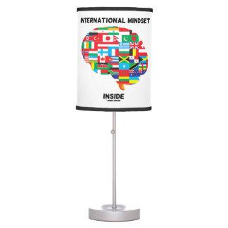 International Mindset Inside Intl Flags Brain Table Lamp