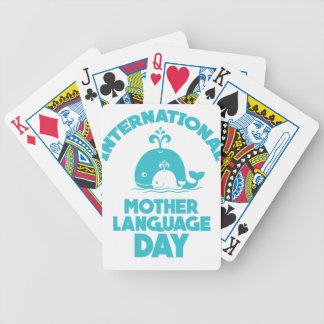 International Mother Language Day - 21st February Bicycle Playing Cards