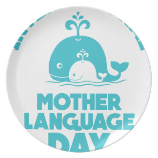International Mother Language Day - 21st February Plate
