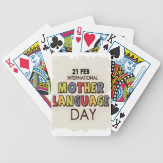 International Mother Language Day-Appreciation Day Bicycle Playing Cards
