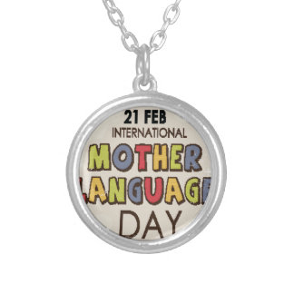 International Mother Language Day-Appreciation Day Silver Plated Necklace