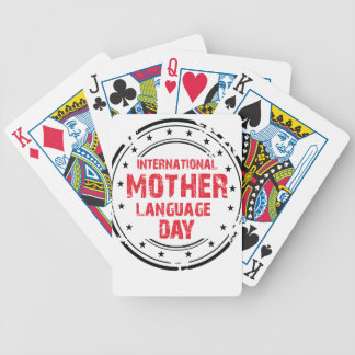 International Mother Language Day Bicycle Playing Cards