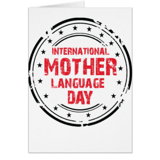 International Mother Language Day Card