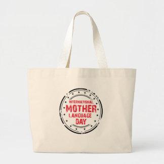International Mother Language Day Large Tote Bag
