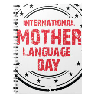 International Mother Language Day Notebook
