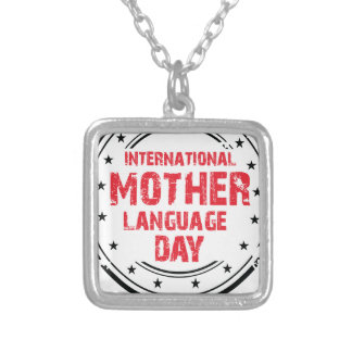 International Mother Language Day Silver Plated Necklace
