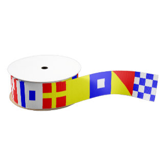 International Nautical Flags N (November)-Z (Zulu) Grosgrain Ribbon