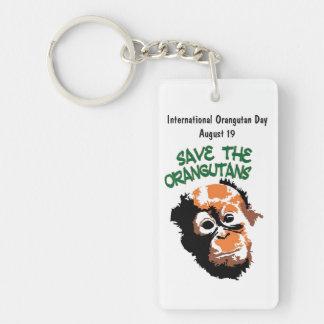 International Orangutan Day Keychain