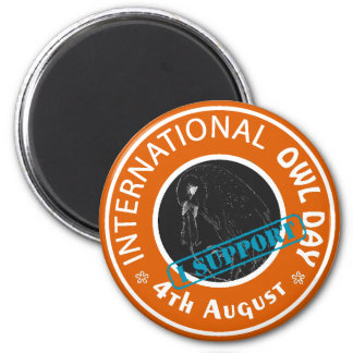 International Owl Day-4th August-Endangered Specie 2 Inch Round Magnet