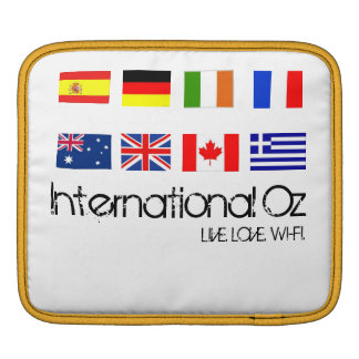 International Oz - iPad Sleeve - LIVE.LOVE.WI-FI.