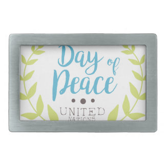 International Peace Day Label Designs Belt Buckle